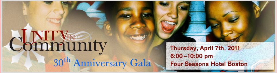 Unity in Community. 30th Anniversary Gala